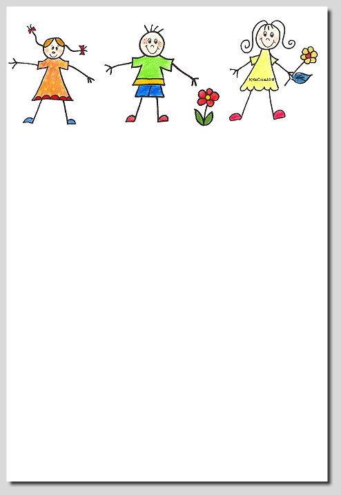 Briefpapier Lustige Kinder Kreativzauber Motivstempel