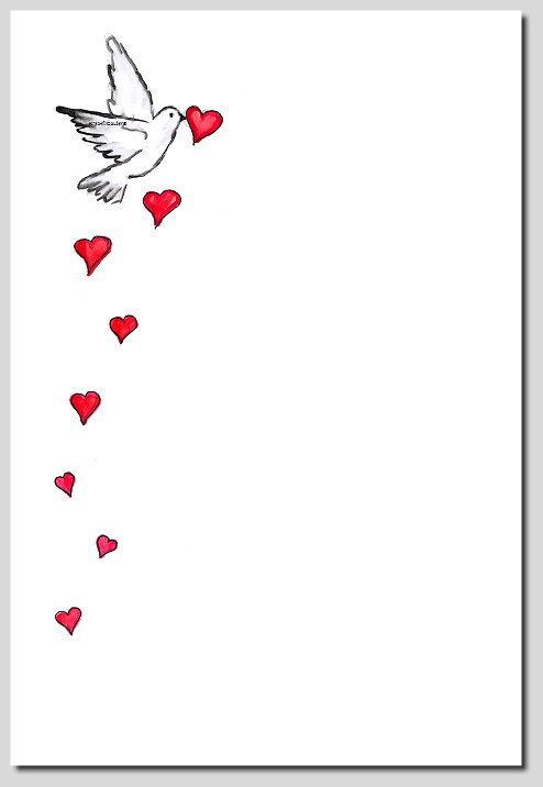 Briefpapier Taube Mit Herz Kreativzauber Motivstempel