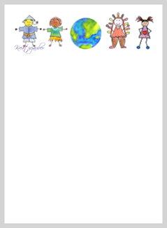 Briefpapier Kinder Der Welt Kreativzauber Motivstempel