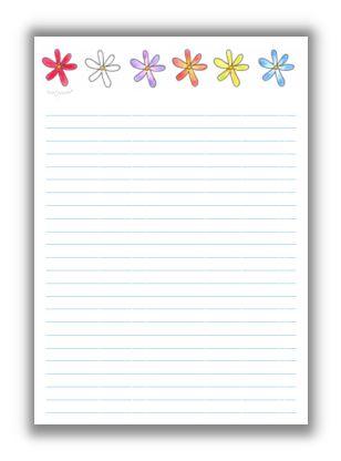 Briefpapier blumige girlande kreativzauber - Briefpapier vorlagen kostenlos ...