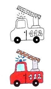 Stempel Feuerwehr Auto