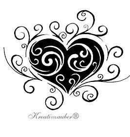 Stempel Tattoo Herz Kreativzauber Motivstempel