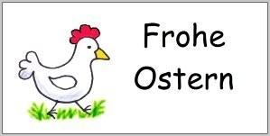 Spruch Aufkleber Frohe Ostern