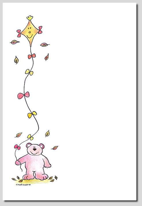 Digitales Briefpapier Herbst Drachen Kreativzauber