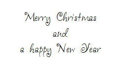 Merry Christmas and a Happy New Year ★ Motivstempel