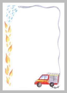 Briefpapier Die Feuerwehr Ist Da
