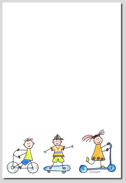 Briefpapier Lustige Kinder Kreativzauber 5