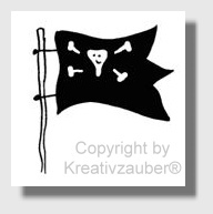 Piratenfahne ★ Motivstempel