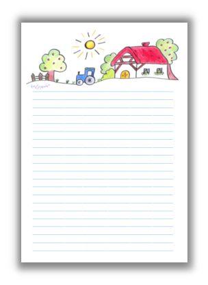 Briefpapier bauernhof kreativzauber - Briefpapier vorlagen kostenlos ...