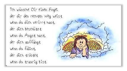 Gedichteaufkleber Ich Wünsche Dir Einen Engel