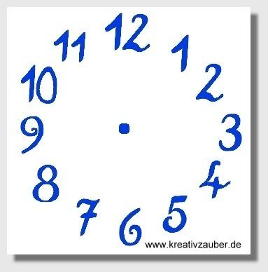 Zifferblatt individuell - KreativZauber® ☆ Motivstempel ...
