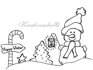 Stempel: Happy Winter