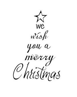 We wish you a Merry Christmas ★ Motivstempel
