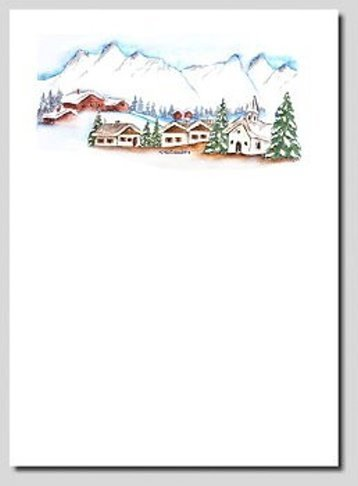 Briefpapier Winterberge