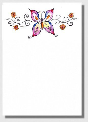 Briefpapier Schmetterling - Border