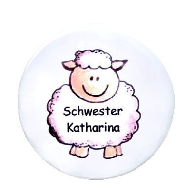 Ansteck Button Schaf