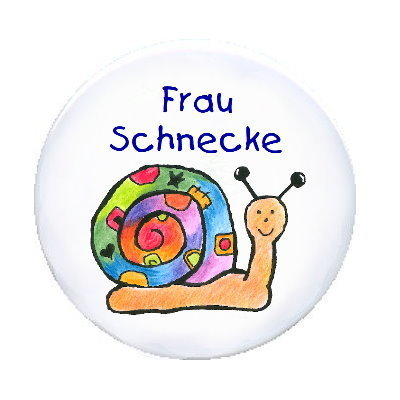 Ansteck Button Patchwork - Schnecke