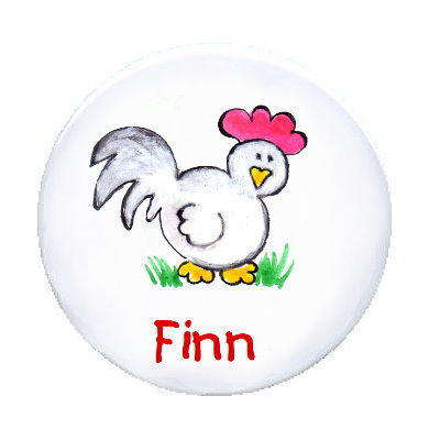 Ansteck Button  Huhn