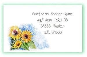 Visitenkarte Sonnenblumen Kreativzauber