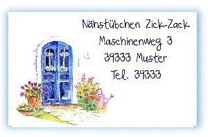 Visitenkarte Blaue Türe