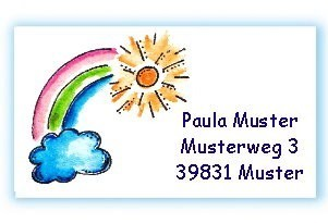 Visitenkarte Regenbogen Kreativzauber