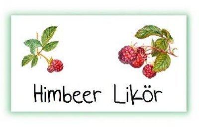 itenga 24x Sticker Aufkleber Etikett Himbeere Marmelade Gelee Früchte Küche Obst