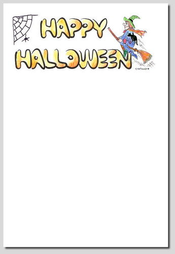digitales Briefpapier Happy Halloween