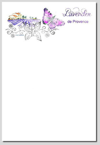 digitales Briefpapier Lavender