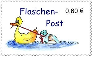 Briefmarken Flaschenpost