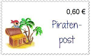 Briefmarken Piratenschatz