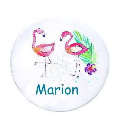 Ansteck Button Flamingos