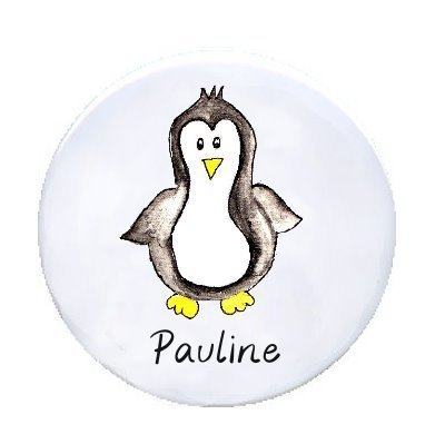 Ansteck Button Pinguin