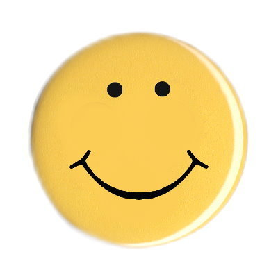 Ansteck Button lachender Smiley