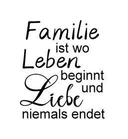 Familie ist wo Leben beginnt ☆ Motivstempel - KreativZauber®