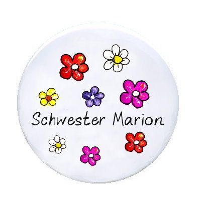 Ansteck Button Flower Power
