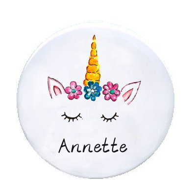 Ansteck Button Einhorn