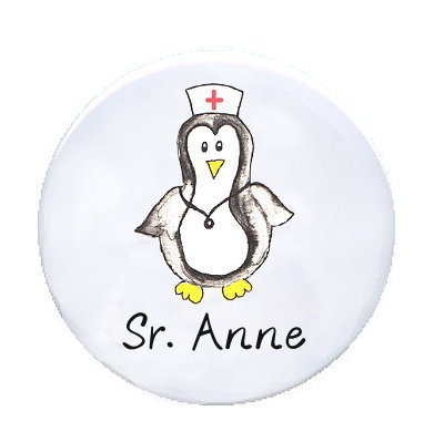 Ansteck Button Pinguin-Schwester