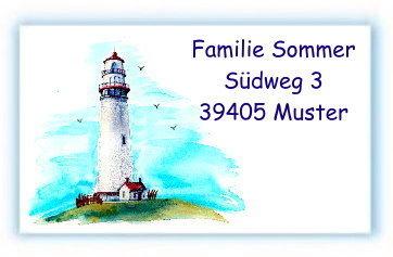 Adressaufkleber Seestern am Strand Adressetiketten 1-5 Zeilen beschriftbar 210 St/ück 54 x 25 mm