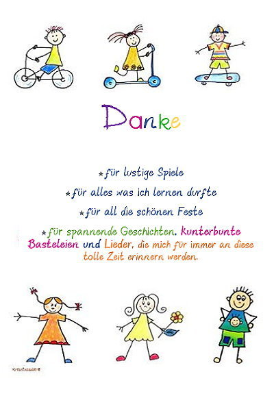 Kindergarten text Abschied