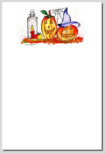 Briefpapier Herbst & Halloween