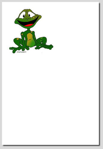 "Briefpapier ""Froggy"""