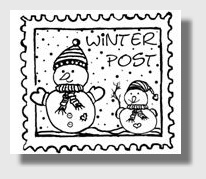 Stempel: Winterpost