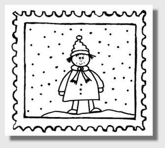 Stempel: Winterkind
