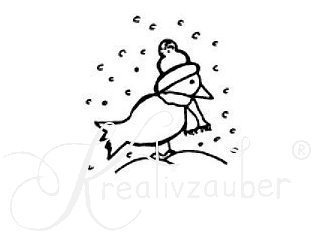 Winter Vogel ★ Motivstempel